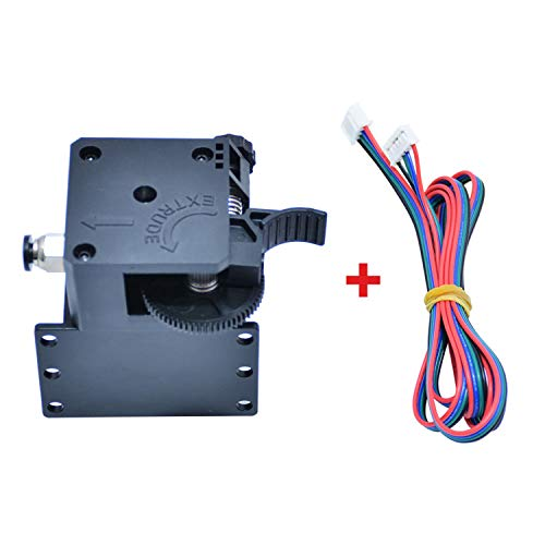 Leepesx Tronxy 3D Upgrade Parts Assembled Titan Extruder Kit with Stepper Motor and Wire Support Print Soft Filament Compatible with X5SAPRO/X5SA-400/D01/X5SA-400PRO/X5SA-500 3D Printer