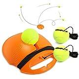 Buluri Entrenador de Tenis con Cuerda Elástica de Goma Entrenador de Pelota de Tenis autopráctica de Tenis Práctica Entrenamiento para Principiantes (Naranja)