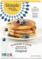 Simple Mills Almond Flour Pancake Mix & Waffle Mix, Gluten Free, Made with whole foods, (Packaging M