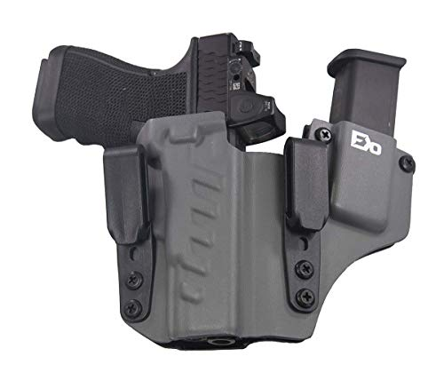 Fierce Defender IWB Kydex Holster Compatible with Glock 19 23 32 -The +1 Series -Made in USA- GEN 5 Compatible (Gunmetal Grey)