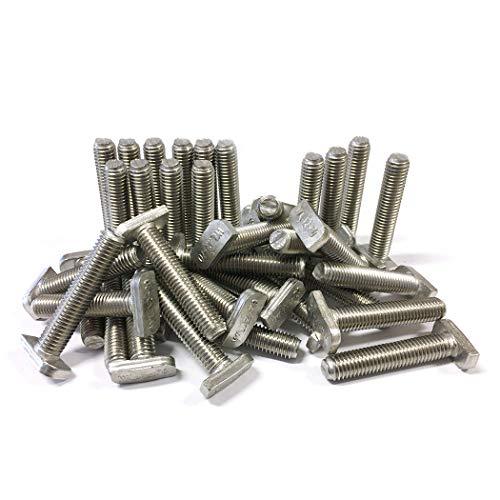 Lot de 40 vis à tête de marteau M10 x 50 en acier inoxydable A2 Solar Photovoltaik type 28/15