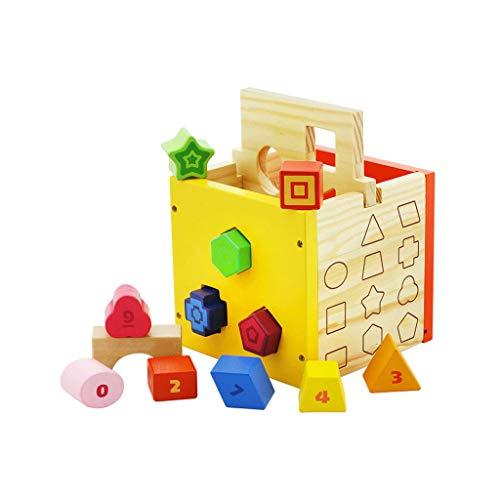 LINGLING-JOUETS Jouet en Bois pour Enfants Forme Puzzle cognitif Éducation précoce Boîte à facettes Multiples 2 Ans ou Plus (Taille : L)