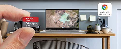 SanDisk Ultra 64GB microSDXC UHS-I-Karte für Chromebook mit SD-Adapter und bis zu 120MB/Sek.