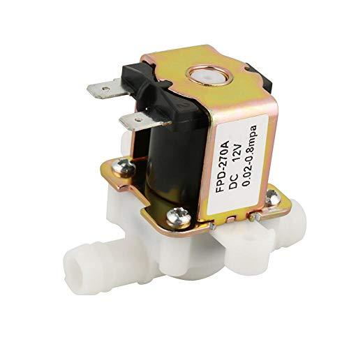 Elektrisches Magnetventil, DC12V OD12mm Elektromagnetisches Kunststoffventil Normalerweise geschlossener Wassereinlass-Durchflussschalter für Wasser