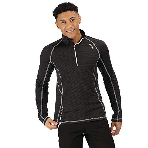 Regatta Polaire Quadrillée Yonder avec col Protecteur, Ouverture 1/2 Zip et Propriété de séchage Rapide T-Shirts/Polos/Vests Homme Black FR: XL (Taille Fabricant: XL)