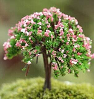 Oteshina Dollhouse Ornament Decor Miniature Sakura Tree Plants Fairy Garden 1 Pcs - Pots Outdoor Tool Trees Face Plant Hangers Tree Room Plants Seed Artificial Light Holder