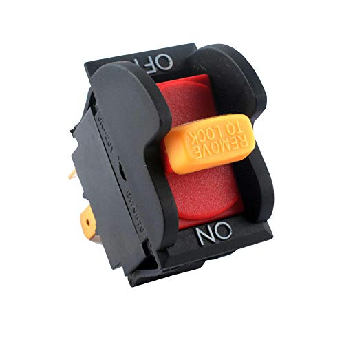 Podoy 489105-00 Switch SW7A On-Off Toggle Table Saws Switch Compatible with Delta Ryobi Rid-gid Replacement for 31-120 31-250 31-252 31-255X 31-340 31-460 31-695 31-750 31-780