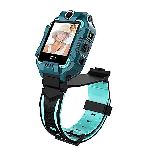 Kids Smart Watch 4G WiFi GPS Lbs Lbs Posicionamento Video Chamada Dual Camera Meninos Meninas Smart Watch One-clique SOS Motion Track Despertador Crianças À Prova D 'Água Smart Watch (Color : A)