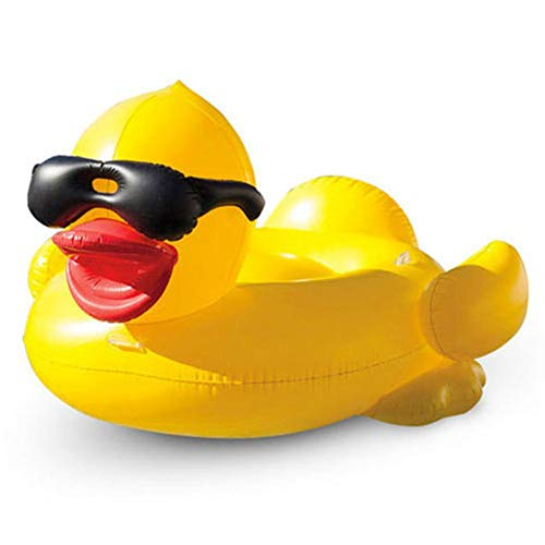 circulor Luftmatratze Schwimmende, Aufblasbare Badeente Luftmatratze Schwimmende Ente Badeinsel Schwimminsel Liege Matratze