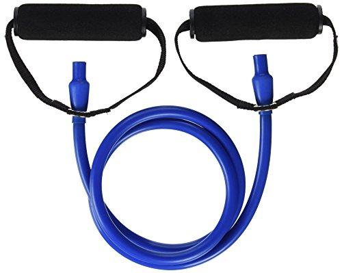DITTMANN Body Tube Deluxe Fitnessband Expander blau/extra stark Schaumstoffgriff