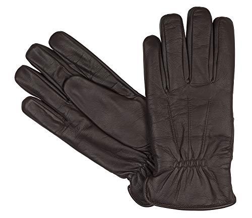 Bugatti Herrenhandschuhe Handschuhe Ziegennappaleder Braun 8356, Farbe:Braun, Größe:XL