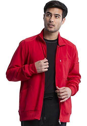 CHEROKEE Infinity Men 'Men's Zip Front Jacket, CK305A, M, Red