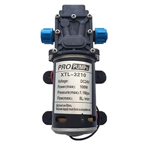SDENSHI Bomba de Diafragma de Agua Eléctrica de Presión de 100 W Autocebante 8L / Min DC12V / 24V - Negro Azul 5