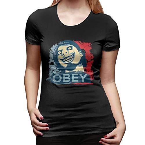 Hongfeimaoyi O_Bey F_Rog - Camiseta de manga corta con cuello redondo para...