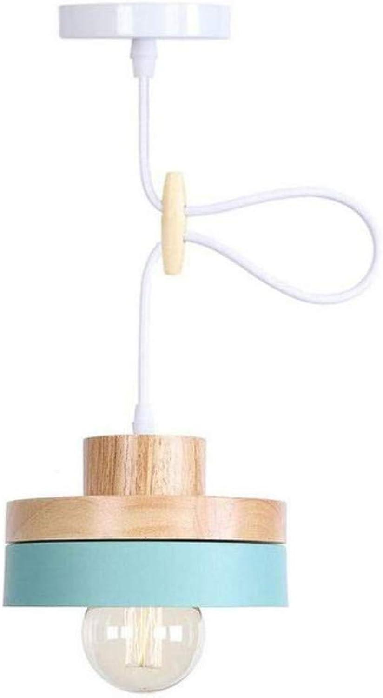 Kronleuchter Deckenleuchte Led-Lichtpendelleuchte Einfache Stil Hngen Licht Mode Disc Holz Lamp Cap Farbige Schmiedeeisen Schatten Deckenpendelleuchte