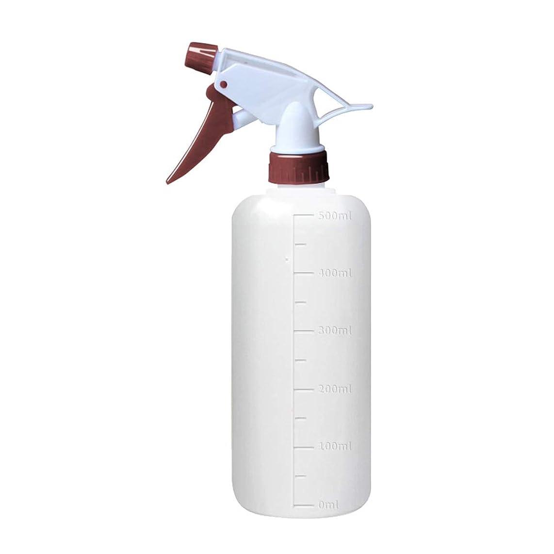 タバコ油和らげるプラスチック製スプレーボトルポータブル手動ハンドトリガー水噴霧器じょうろ (Color : White, Size : 500ML)