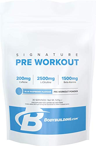 Bodybuilding.com Signature Signature Pre Workout 525 Grams Blue Raspberry