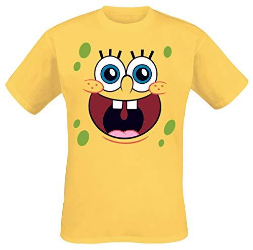 Spongebob Schwammkopf Happy Face Männer T-Shirt gelb XL