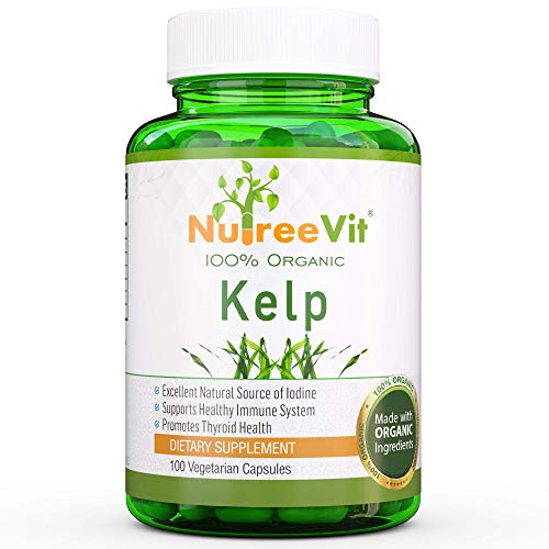 NutreeVit Pure Organic KELP Capsules - Thyroid Support, Strengthen Immune System - 100% Organic Kelp Supplement (500 mg)