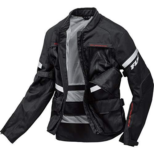 FLM Motorradjacke mit Protektoren Motorrad Jacke Sommerreise Textiljacke modular 2.0 schwarz L, Herren, Tourer, Ganzjährig, Polyester
