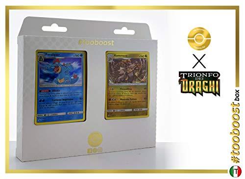 Feraligatr 24/70 Holo E Kommo-o 54/70 Holo #tooboost X sol E & Luna 7.5 Trionfo dei Draghi - Box di 10 Carte Pokémon Italiene + 1 Goodie Pokémon