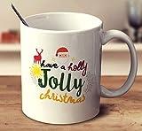 Tazas de té blanco de 325 ml Have A Holly Jolly