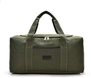 Men Travel Bags Large Capacity Women Luggage Travel Duffle Bags Canvas Big Travel Handbag Folding Trip Bag Waterproof XA164K (Color : Army Green, Size : -)
