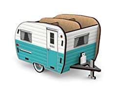 Park this retro-styled camper on your desk, toss in your pens and pencils, kick back and relax Comes flat-packed with simple instructions for quick and easy assemble Made of durable MDF