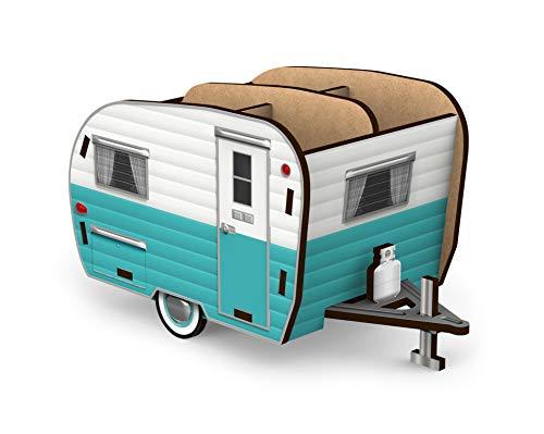 Genuine Fred Happy Camper - Vintage Camper Pencil Holder, White and Blue (5242680)