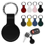 VCTKLN Schutzhülle Stoßfest PU Leder Case Shell Location Tracker Protector Keychain Hook,Bluetooth Finder Schutzabdeckung,Schlüsselanhänger für Air-Tags,Bluetooth Finder Case für Airtags (A)