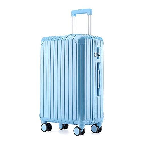 N\C Maleta de 4 ruedas de ajuste fino ABS Hard Cover Trolley Case, ligero y portátil maleta