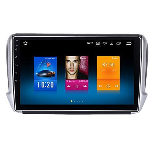"""Dasaita 10.2\"""" Android 9.0 1 Din Autoradio mit Navi 4G RAM 32G ROM für Peugeot 2008 208 Jahr 2012-2018 Bluetooth Autoradio Unterstützung GPS WLAN DAB+ Carplay USB Rückfahrkamera"""