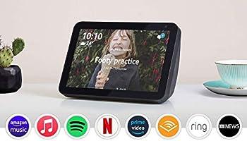 "Echo Show 8 (1st Gen) - HD 8"" smart display with Alexa - Charcoal Fabric"