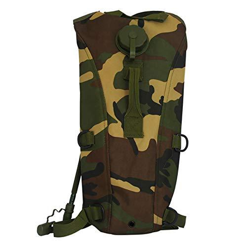 Yoshotech Mochila de hidratación pequeña Black Camel Pack con bolsa de hidratación de 3 l, para caza, escalada, correr y senderismo, camuflaje