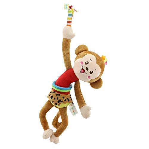 Naughty baby Lit Bébé Mode Cartoon Animal Peluche Suspendus/Chien/Chat/Monkey Frog Tirer Jouets Bell Choc Cadeaux Pour Bébé 0-3 Ans M,B