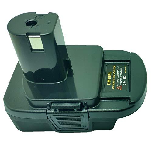 DM18RL Battery Converter Adapter USB for DEWALT 20V for Milwaukee M18 Convert P108 for RYOBI ABP1801 to 18V NI-CD NI-MH Battery