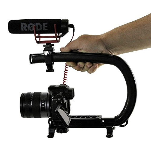 Cam Caddie Scorpion EX Handheld Camera Stabilizer with Threaded Feet - Professional Steadycam for most Cameras, Camcorders, Mobile Phones and Action Sports Cams - Mounting Accessories Included - Black