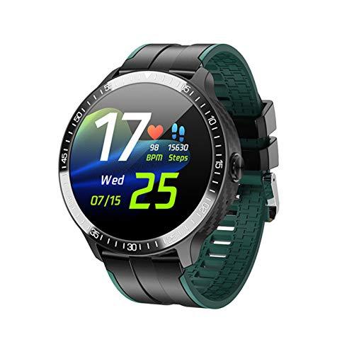 ZWW Music DIAL MONITOREO DE Temperatura Watch MT16 Pulsera Inteligente Pantalla De Color Círculo Completo Toque Completo Llamada Bluetooth,B