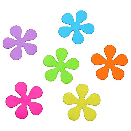 Sanixa PA70808 Premium Anti-Rutsch Sticker Blumen bunt   Für Wanne & Dusche   Antirutsch Aufkleber Saugmatte Duschmatte Badewannen-Matte