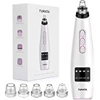 Turata Rechargeable Blackhead Removal Kit with 5 Replaceable Heads