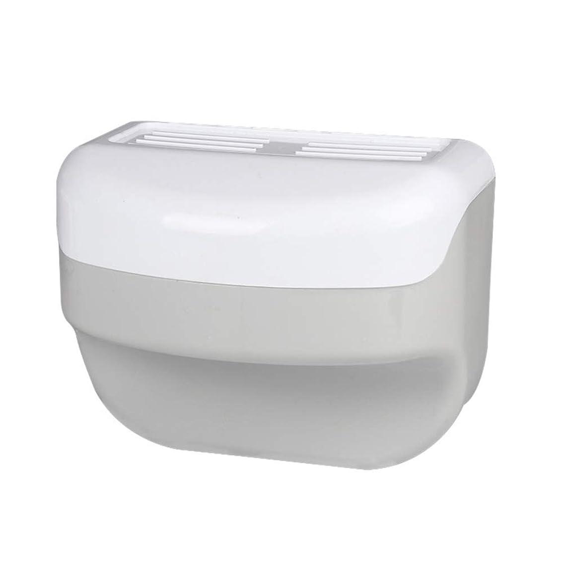 追い出す福祉洞窟TOPBATHY 浴室トイレティッシュボックスラック壁吸盤ロールホルダーフリー掘削ネイルフリーティッシュボックス