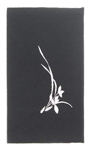 日本製 フォーマル 念珠入付 ふくさ 刺繍入り 黒 12×20cm