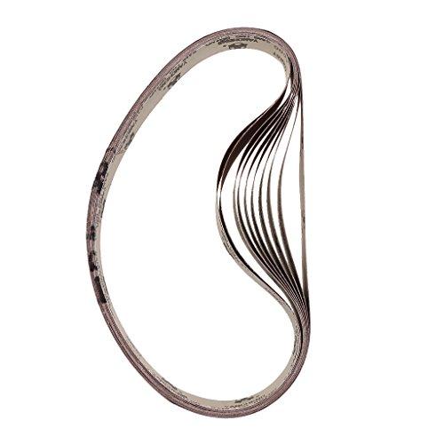 10 Stück Schleifbänder 25x762mm Schleifband Bandschleifer - 600 Grit