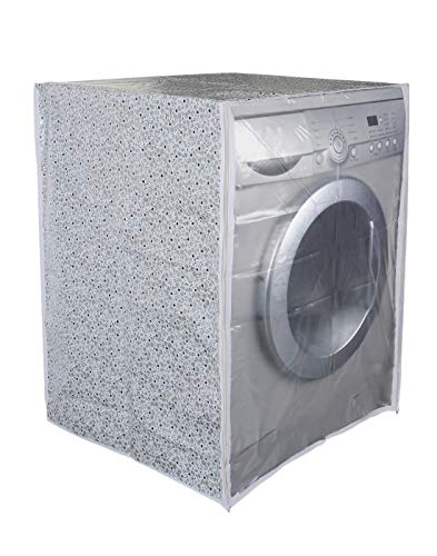 Classic Front Load Washing Machine Cover for LG 6.5 Kg & 8Kg (63Cmsx63Cmsx81Cms_White,Grey) Pack of : 1 Washing Machin Cover