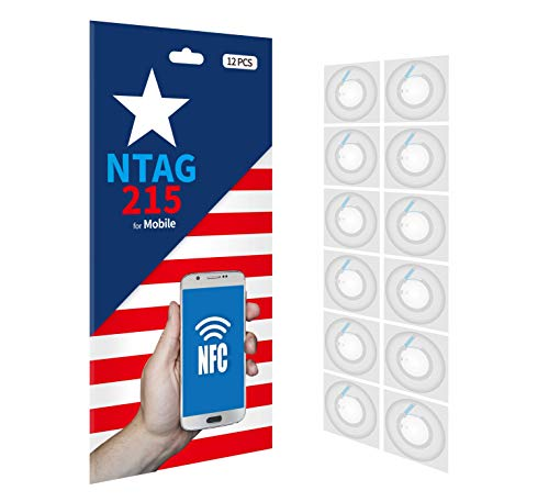 Cubenology | (12pcs NTAG215 NFC Tags + 12pcs Shelter) Sticker, Use for Original NXP's NFC Tags, 100% Compatible with NFC Tags TagMo and NFC Tags Amiibo and All NFC-Enabled Devices, NFC Stickers Type