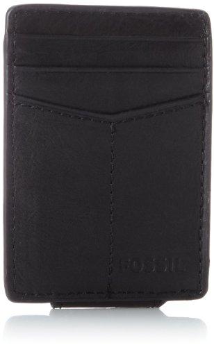 Fossil Men's Ingram Leather Minimalist Front Pocket Card Case Wallet, Black
