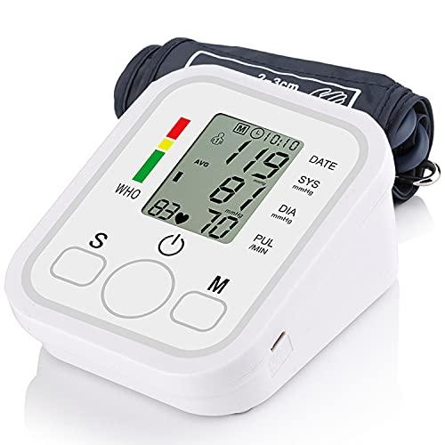 Tensiómetro de Brazo, Medidor Tension Arterial Tensiómetro Digital Monitor de Presión Arterial Digital con Pantalla LCD/Memorias de 2*99 Datos/Medición Precisa Regalo para Padres Abuelos