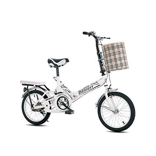 LRHD 20 pulgadas bicicleta plegable de 7 velocidades cómodo ciclo de cercanías bicicletas plegables de Mujeres Estudiante de educación for coche bicicleta fácil de llevar peso ligero de alta carbono m
