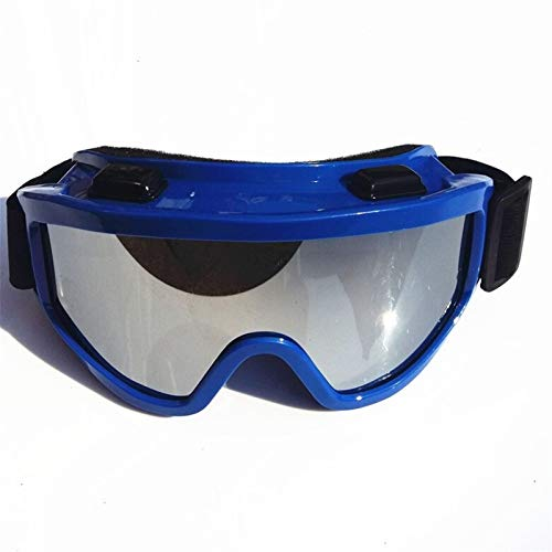N\A Gafas de Snowboard de esquí Gafas de esquí de Kuufy Gafas incorporadas permitidas a Prueba de Polvo a Prueba de Polvo Anti-Shock Gafas Protectoras (Color : Blue Silver Update)