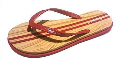 Siebi's Sporty Last Season Restposten Zehentrenner Badeschuhe Damen: Größe: 38/39   Farbe: Rot